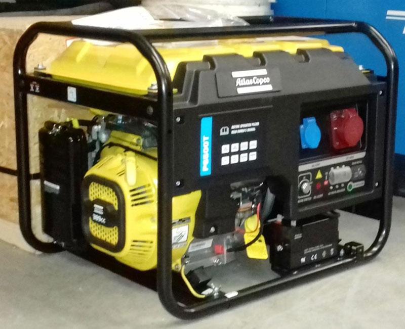 Új Atlas Copco P6500T generátor
